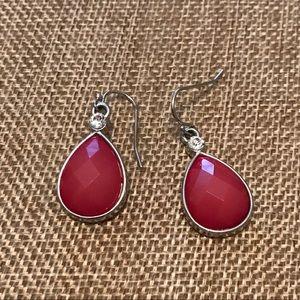 Premier Designs Fuchsia Teardrop Earrings
